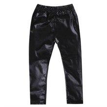 FOCUSNORM/ г.; Лидер продаж; Эластичные Обтягивающие черные штаны из искусственной кожи для маленьких девочек; леггинсы; брюки