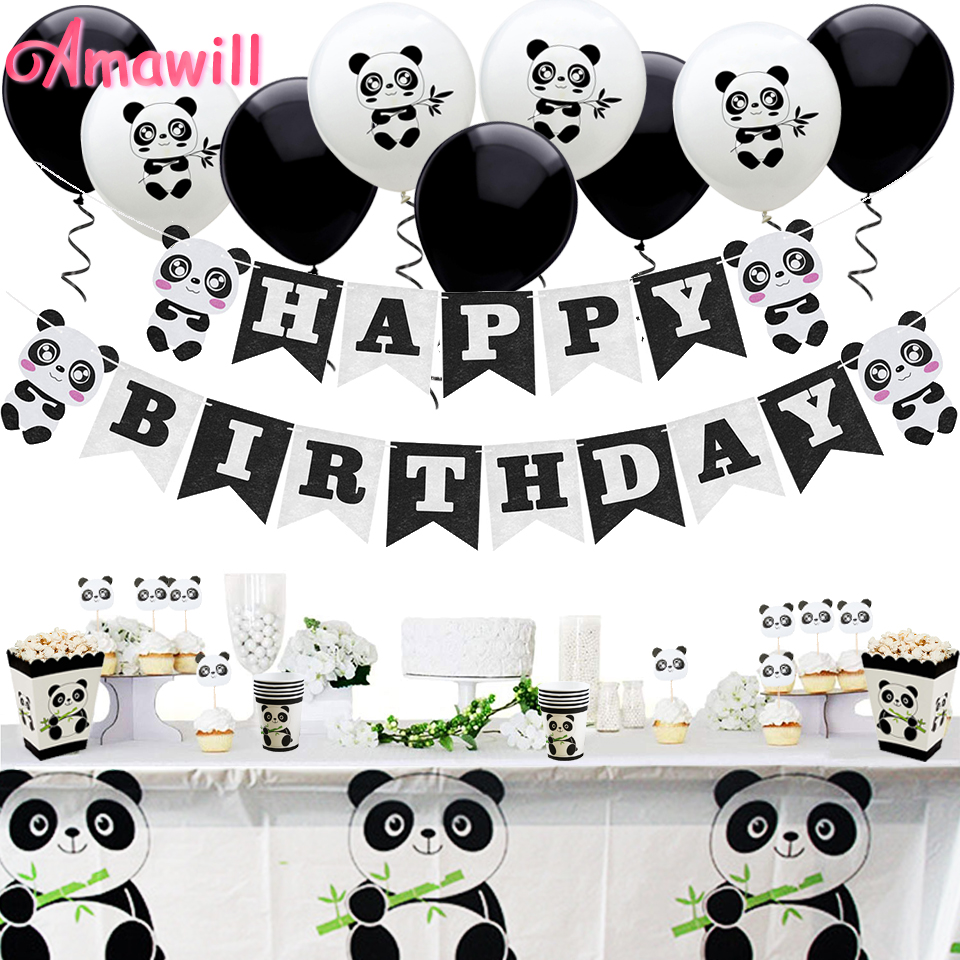 Party Decorations Personalised ANY NAME Panda 21st Birthday Banner x 2