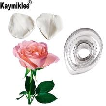 Rose Leaf Flower-Making Gum Paste Floral Petal Veiner Silicone Molds Fondant Cake Decorating Tools CS293