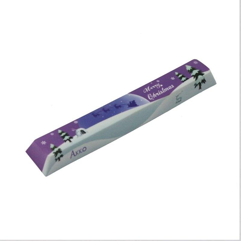 Replace SpaceBar Keycap AKKO Merry Christmas Dye sub PBT Space Bar Keycap 6 25u Keycap for