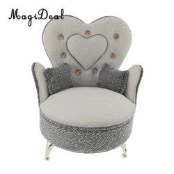 Деревянный миниатюрный диван-кресло в европейском стиле, мебель для спальни, экшн-фигурки для кукольного домика, аксессуары для кукол, 1 шт., ...