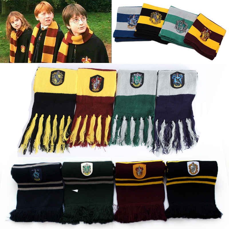 Harri Potter Scarf Scarves Gryffindor/Slytherin/Hufflepuff/Ravenclaw Scarf Scarves Cosplay Costumes Halloween Gift