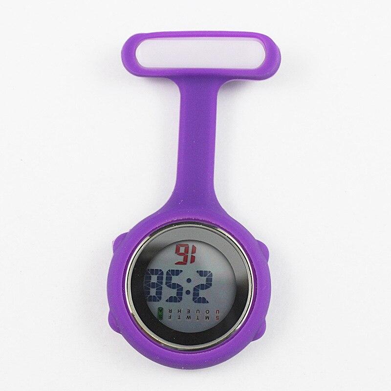 30PCS New Digital Nurse Watch Fashion Silicone Medical Watches Lapel Doctor Brooch Pocket Watch
