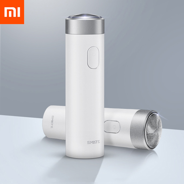 Original Xiaomi Smate Turbine Razor Electric Men'S Rechargeable Beard Knife Mini Student Xiaomi Electric Razor Comfy Clean