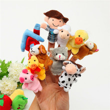 10Pcs/Set Mini Plush Baby Finger Puppets Had A Farm Toy Girls Early Educational Bed Story Hand Puppet Cloth Doll Family Toys 5cm