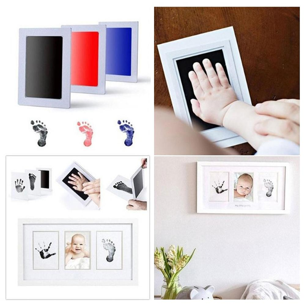 Baby Handprint Footprint Non-Toxic Newborn Imprint Hand Inkpad Watermark Infant Souvenirs Toys Gift 6 Colors Available