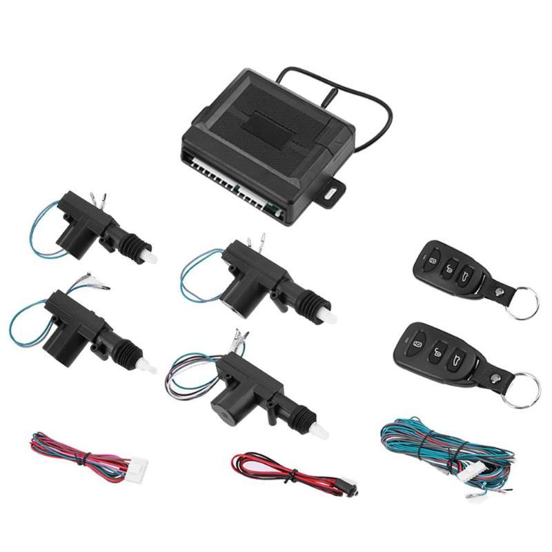 Système d'alarme de voiture automatique 12 V Kit Central à distance serrure de porte verrouillage du véhicule système d'entrée sans clé pour alarme antivol de voiture universelle