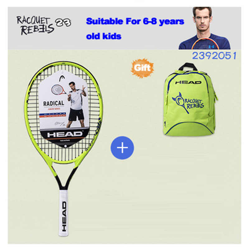 23/25 Inch Original HEAD Tennis Racket Child Raquete Tenis Carbon Composite Junior Tennis Racquet For Kids Youth Tennis Paddle