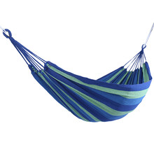 Draagbare Tuin Canvas Hangmat Canvas Bed Camping Opknoping Veranda Achtertuin Indoor Outdoor Swing Blauw Hangmat(China)