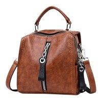 Кожа сумки для женщин модные Плечо Сумка Через для многофункциональная сумка большая