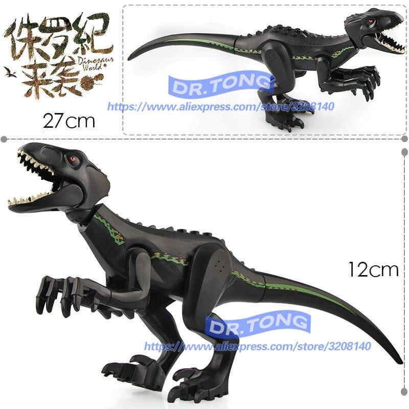10 pcs/lot Jurassic World Park tyrannosaures Action Rex monde Transparent dinosaure blocs de construction briques éducation jouets cadeau L030