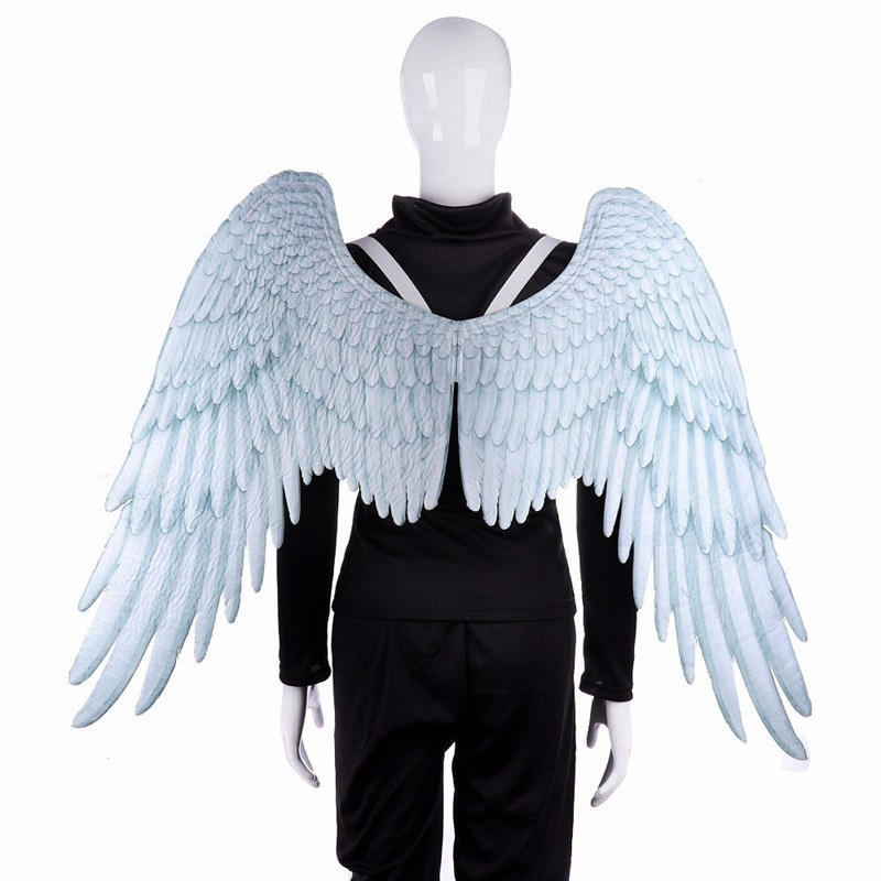 Halloween Adult Kids Angel Wings Cosplay Props Mardi Gras Wedding Party Decoration High Quality Black White Engelenvleugels