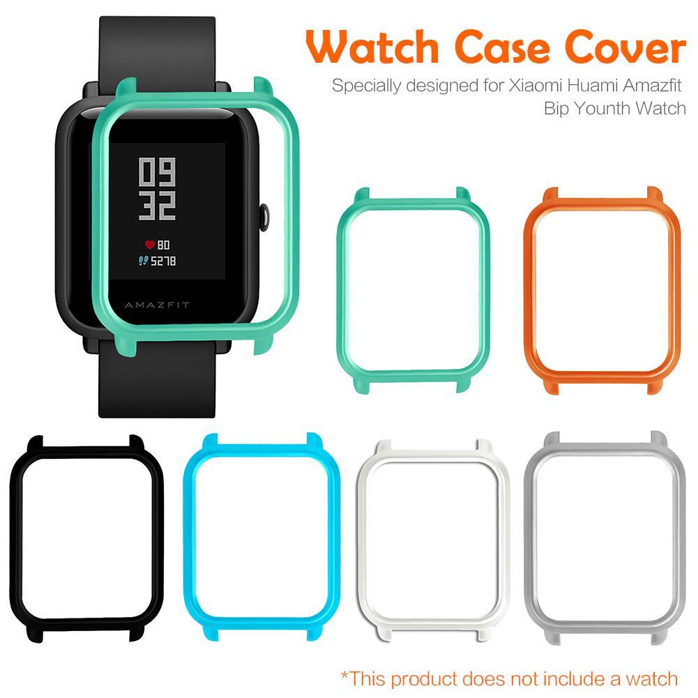 Умный протектор для часов, тонкий, красочная рамка, чехол для ПК, защитная оболочка для Huami Amazfit Bip Молодежные часы высокого качества-in Умные аксессуары from Бытовая электроника