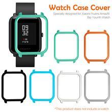 스마트 시계 수호자 케이스 슬림 다채로운 프레임 pc 케이스 커버 huami amazfit bip youth watch 용 보호 쉘 고품질