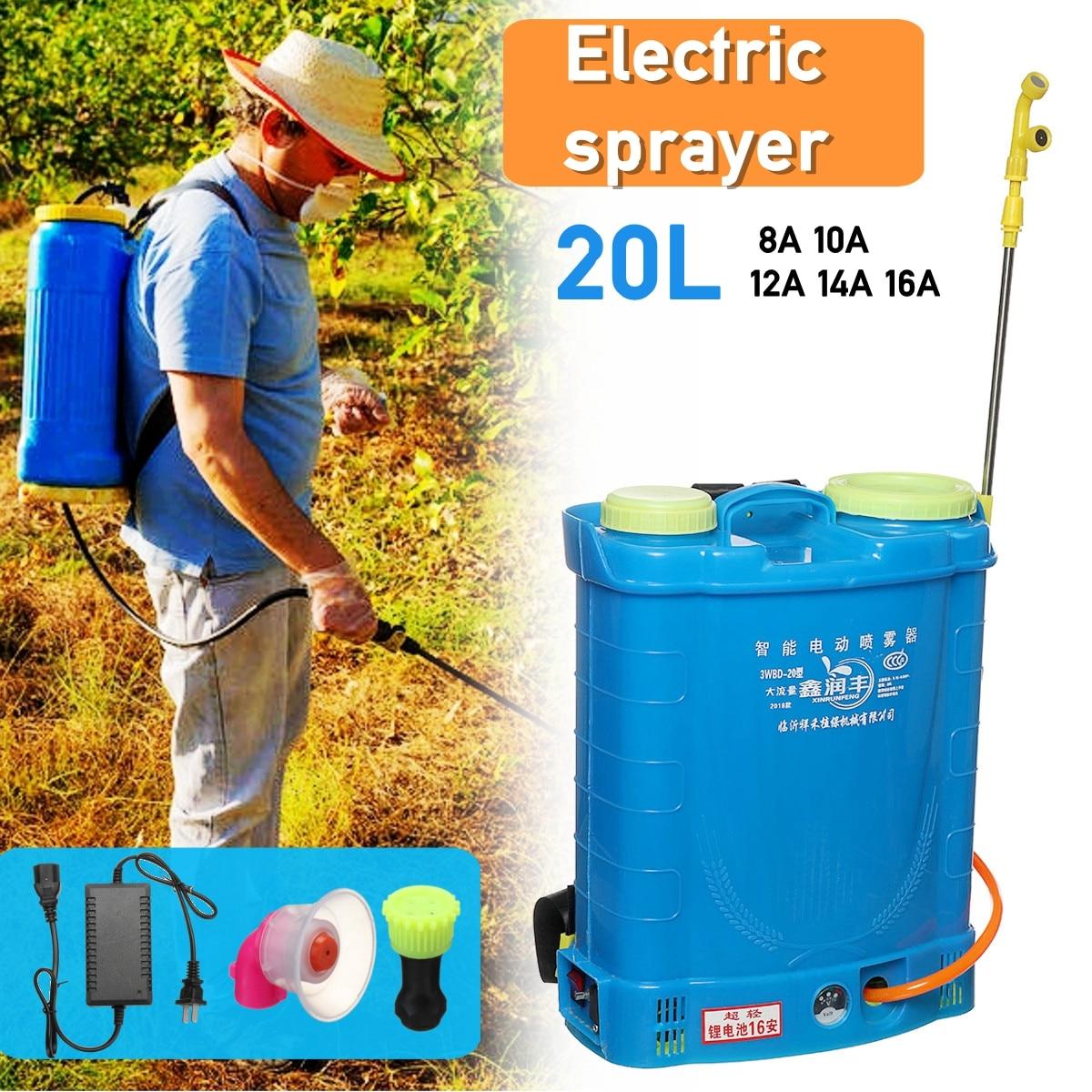 20L Intelligent batterie au lithium pulvérisateur électrique Pesticide Agricole Haute pression de charge distributeur matériel de jardin