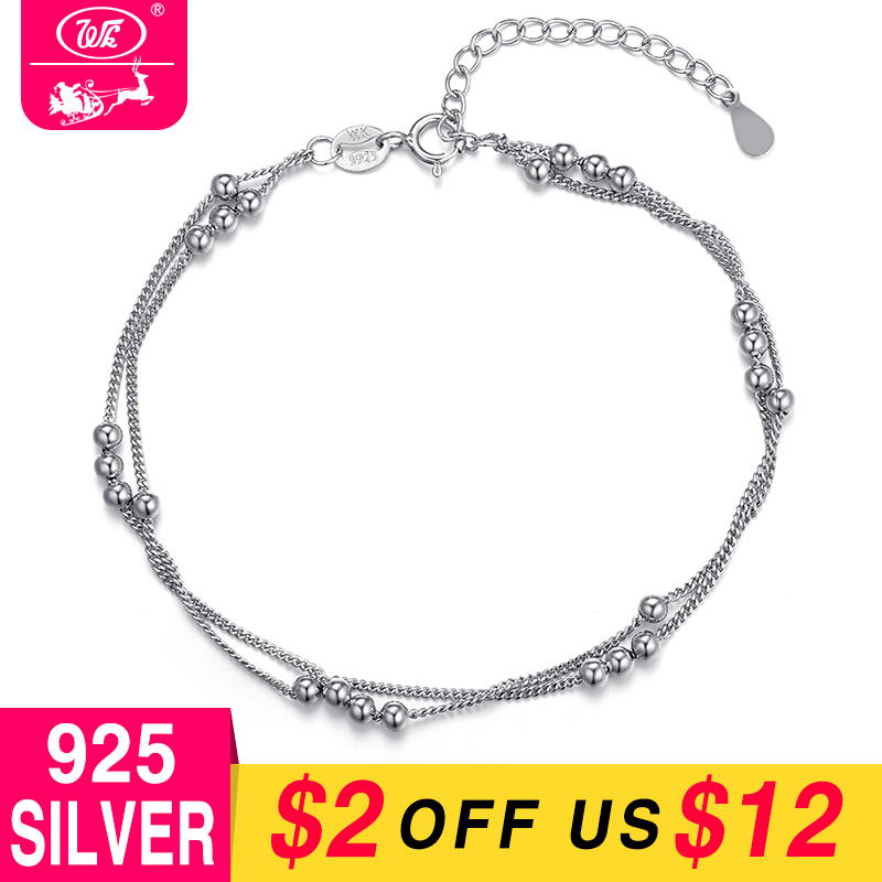 Pure 925 Sterling Silver Bracelet Chain