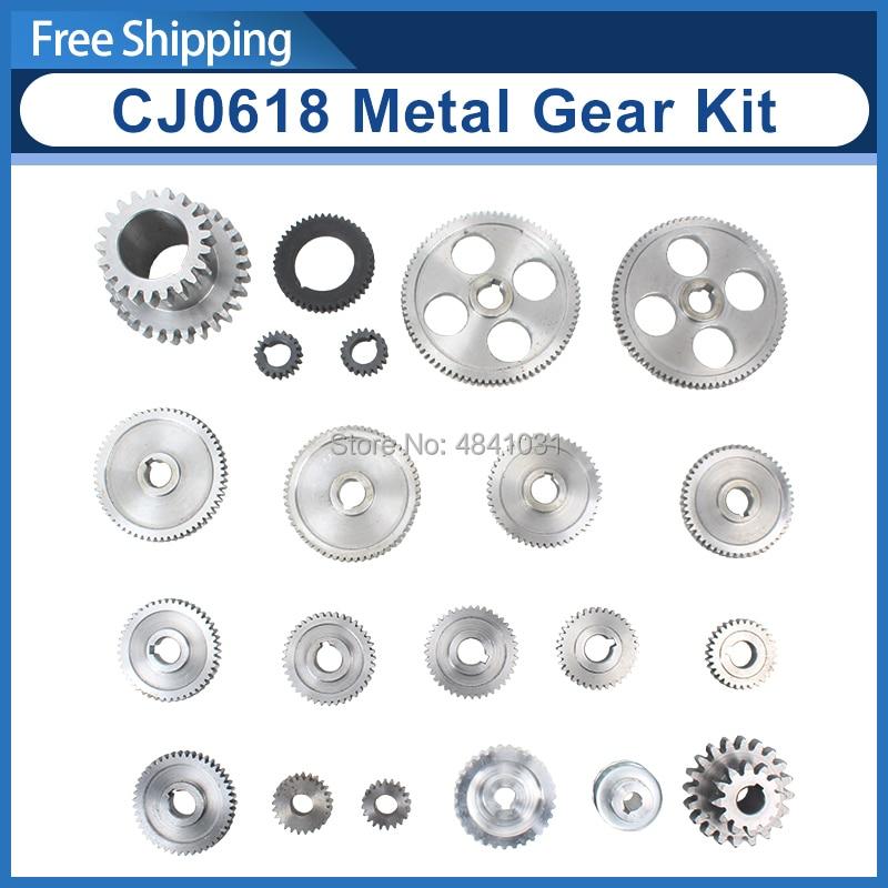 21pcs mini lathe gears CJ0618 Metal Cutting Machine gears Metal Gear Kit Metric