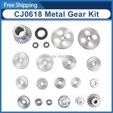 21 Pcs Mini Draaibank Gears/CJ0618 346B Metalen Snijmachine Gears/Metal Gear Kit(Metric)