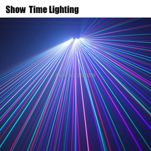 Show Time DJ Laser disco light Full Color RGB Patterns laser Projector Stage Lighting for Disco Xmas home Party 3 heads laser