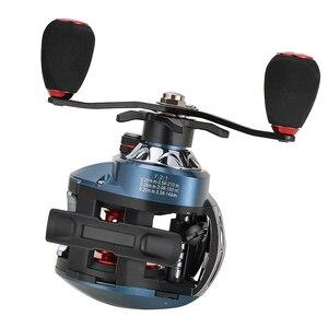 Image 4 - 7.2: 1 18 + 1bb carretel de pesca windlass multiplicador carretel de arremesso centrífugo duplo freio isca fundição carretel 2 tipo direita/mão esquerda