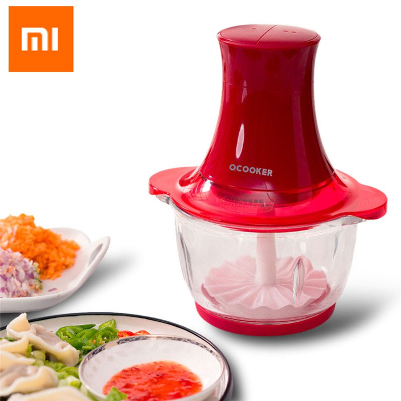 XIAOMI Qcooker Small Electric Meat Grinder 1.2/2.0L 250W Vegetable Fruit-Blender Motor 5 Level Protection CD-CH01/CD-CH02XIAOMI Qcooker Small Electric Meat Grinder 1.2/2.0L 250W Vegetable Fruit-Blender Motor 5 Level Protection CD-CH01/CD-CH02