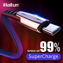 iHaitun 5A USB Type C Cable For Huawei Mate 20 P20 Honor 10 Xiaomi Redmi Note 7 Pro Cable Charger Cord Quick 3.1 Phone Wire 3.0(China)