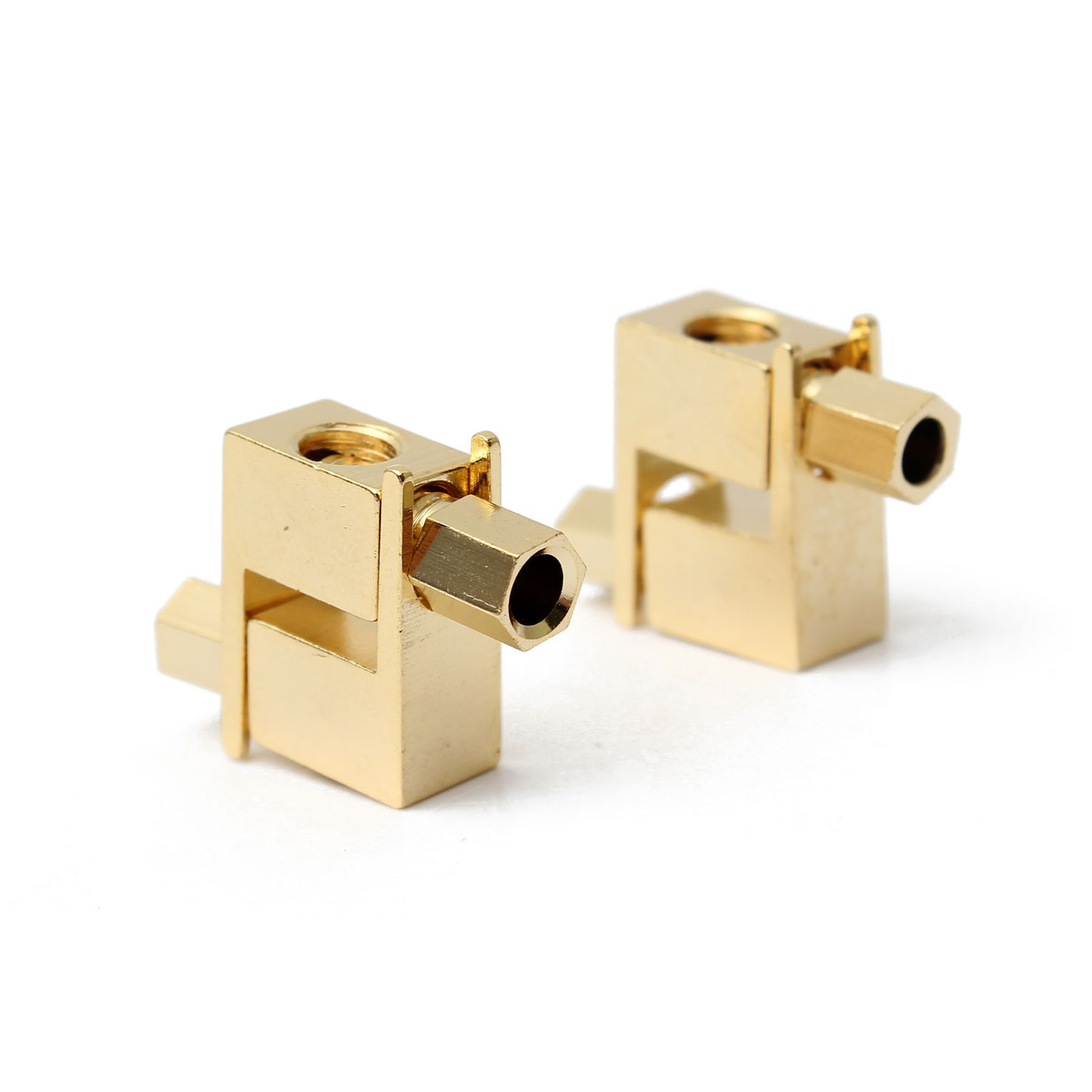50pcs Gold Plated Copper Spade Banana Fork plug Mcintosh Amp Eico tube Adapters