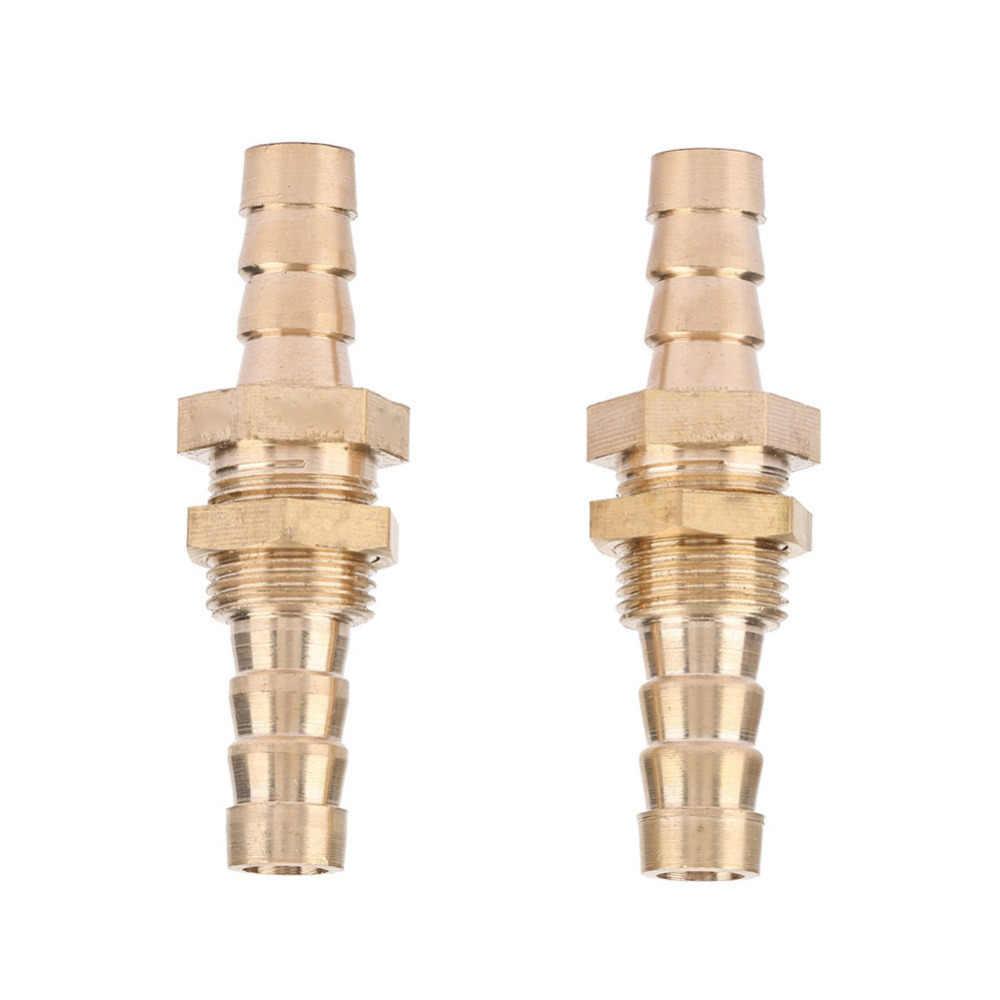 2 piezas adaptador de conector acoplador de tubo de mampara de latón de barra de manguera de alta calidad caliente 2019 caliente