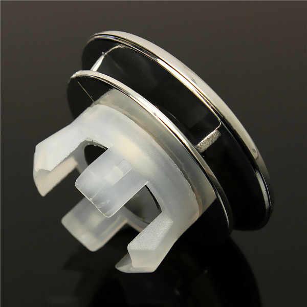 Okrągły z przelewem schludny wykończenia Chrome umywalka łazienkowa zamienne wymiana nadaje się do wszystkich doniczki ceramiczne przelewem pierścień ogólne