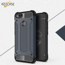 KISSCASE Hybrid Armor Case For Xiaomi Redmi Note 4X 4 4A Cover Soft Silicone Phone Mi 5 5S Plus 3 3S Pro