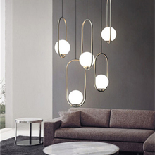 Modern Led Pendant Lamp Glass Ball Pendant Lights Restaurant Living Room Cafe Bedroom Bar Pendant Lamp Light Fixtures Lighting все цены