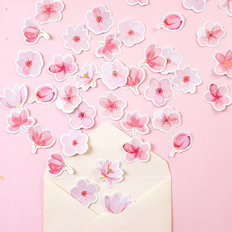 45Pcs/Pack Kawaii Paper Adhesive Stickers Cute Cherry Stationery Stickers For Kids  Diary Decorative Scrapbooking Photo Ablums