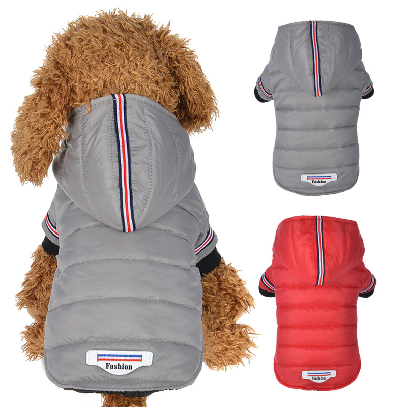 Winter Dog Clothes Warm Coat jacket For Small Medium Dogs Chihuahua Teddy Puppy Cat Hooded Outfit