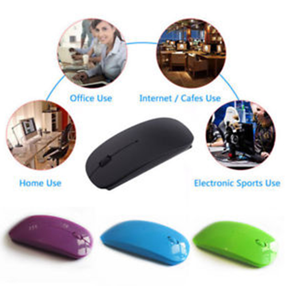 Wireless Mouse USB Optical Mouse 2.4GHz Silent Mouse For Computer PC Tablet