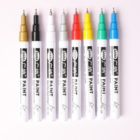 8 Colors\/set 0.7mm Oily Car Tyre Tire Tread Marker Pen Waterproof Permanent Color Match Paint Marker Pen Black Card Graffiti Pen