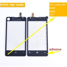 10Pcs/lot For Nokia Microsoft Lumia 430 N430 Touch Screen Touch Panel Sensor Digitizer Front Glass Outer Lens Touchscreen NO LCD new 4 inch digitizer touch screen for microsoft lumia 435 touchscreen panel replacement parts for lumia 532 free shipping
