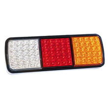 1pc 27.5*9.5*3.5cm 75 LED 12V Car Truck Boat Trailer Rear Tail Light Brake Reverse Indicator Lamp High Quality Accessory Part(China)