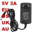 100 шт. 5V3A адаптер 100-240VAC AU UK EU US штекер AC/DC 5В адаптер 5В 3а длина провода 1 2 м