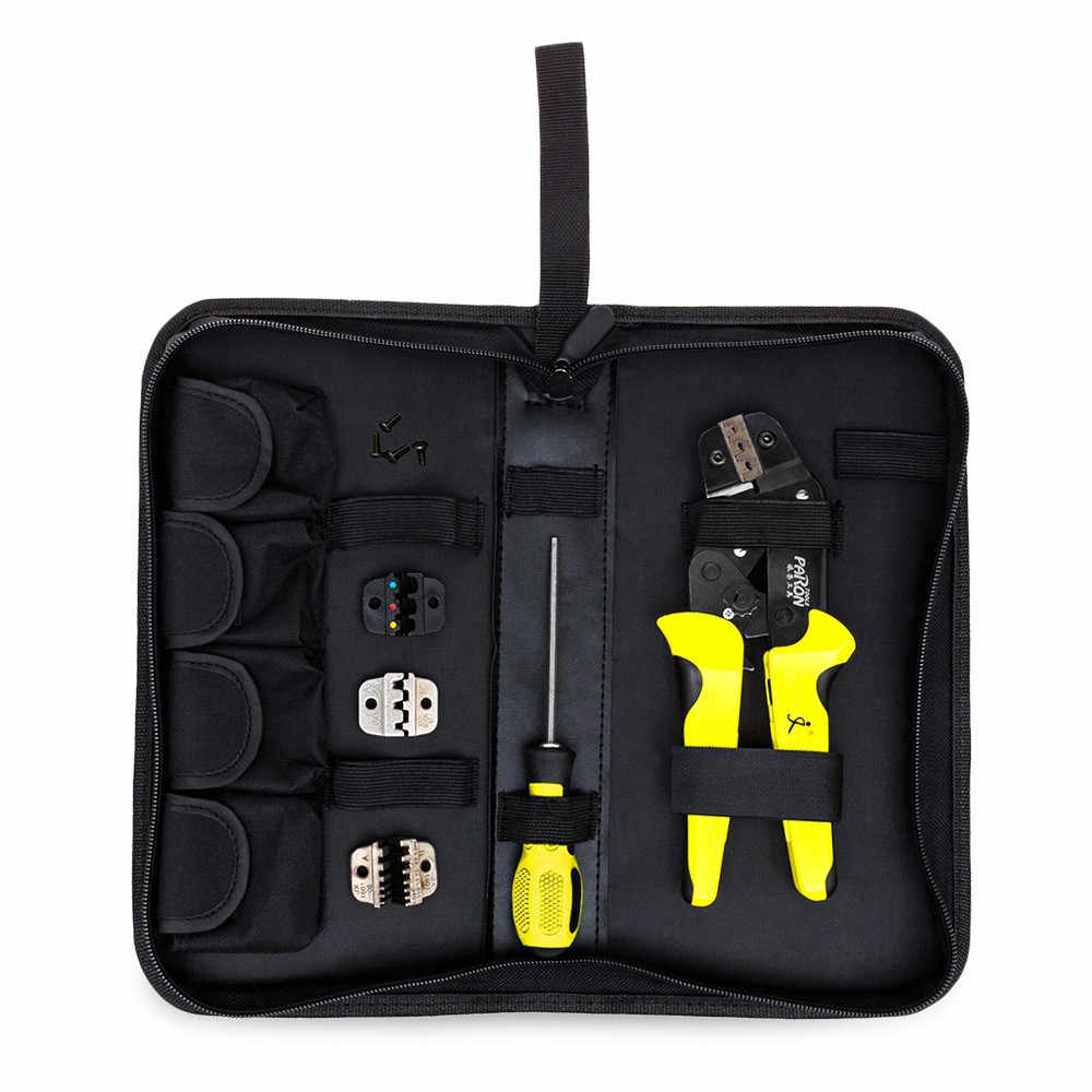 PARON 4 In 1 Multifunction Wire Crimper kit Engineering Ratchet Terminal Crimping Plier Wire Crimper Screwdriver Hand Tool Set