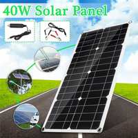 40w 18V Solar Panel Portable Double USB Panels Solar Cells Cell Module interface for Car Yacht Led Light Boat Outdoor Charger