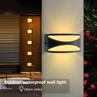85V 265V 12W LED Ceiling Wall Lamp IP65 Waterproof Staircase Balcony Light Warm White/White Light