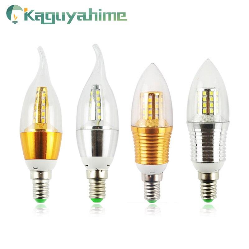 Kaguyahime LED Candle Bulb E14 Golden Aluminum 9W 12W LED Light 220V Led Lamp Cool Warm White Lampada Bombillas Lumiere