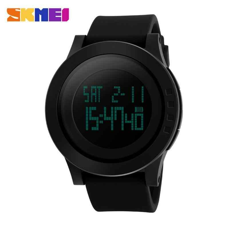 SKMEI 1142 moda czarny męska gumką cyfrowy armia wojskowy zegarek kwarcowy Sport Wrist Watch LED Luminous wodoodporna studentów Elec