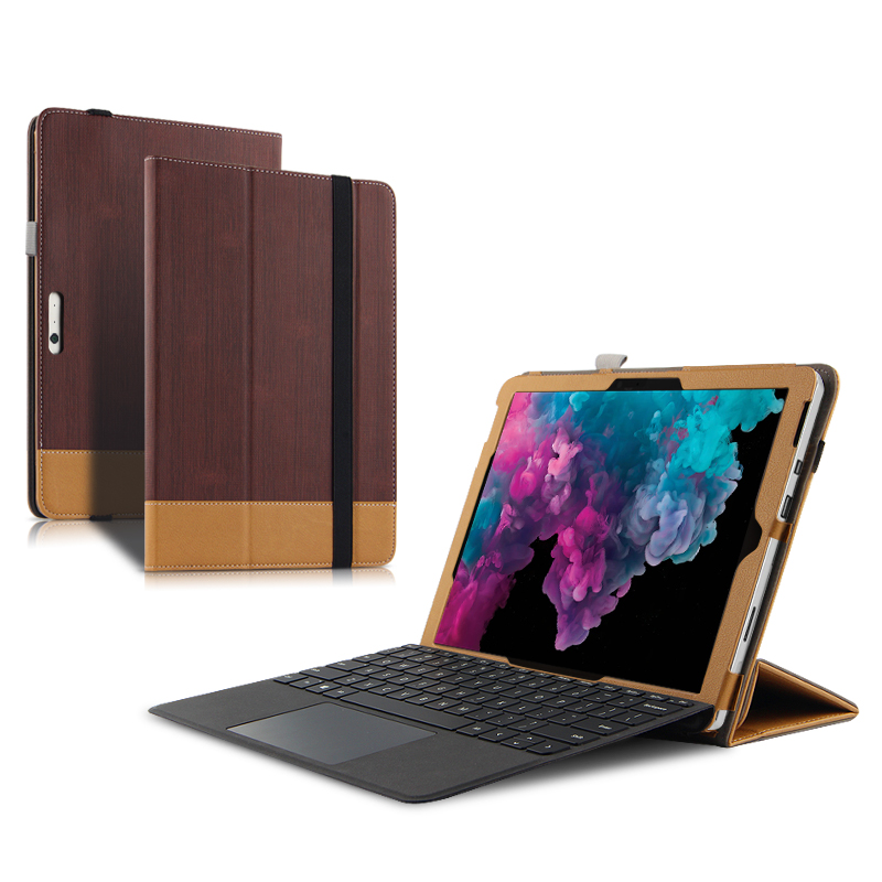 Case For Microsoft Surface Pro 5 Protective Cover Faux Leath