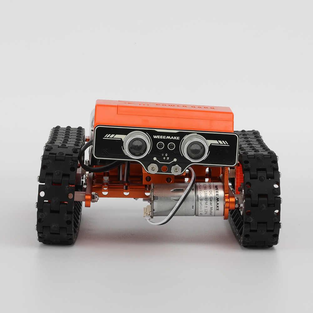 WeeeMake 6 Em 1 WeeeBot Evolução Inteligente Carro RC Robot DIY Kit Kit Educativo APP Controle Programável