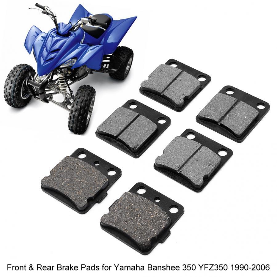 Rear Brake Pads /& Sport Brake Rotor Yamaha YFZ350 Banshee 1990 1991 1992 1993