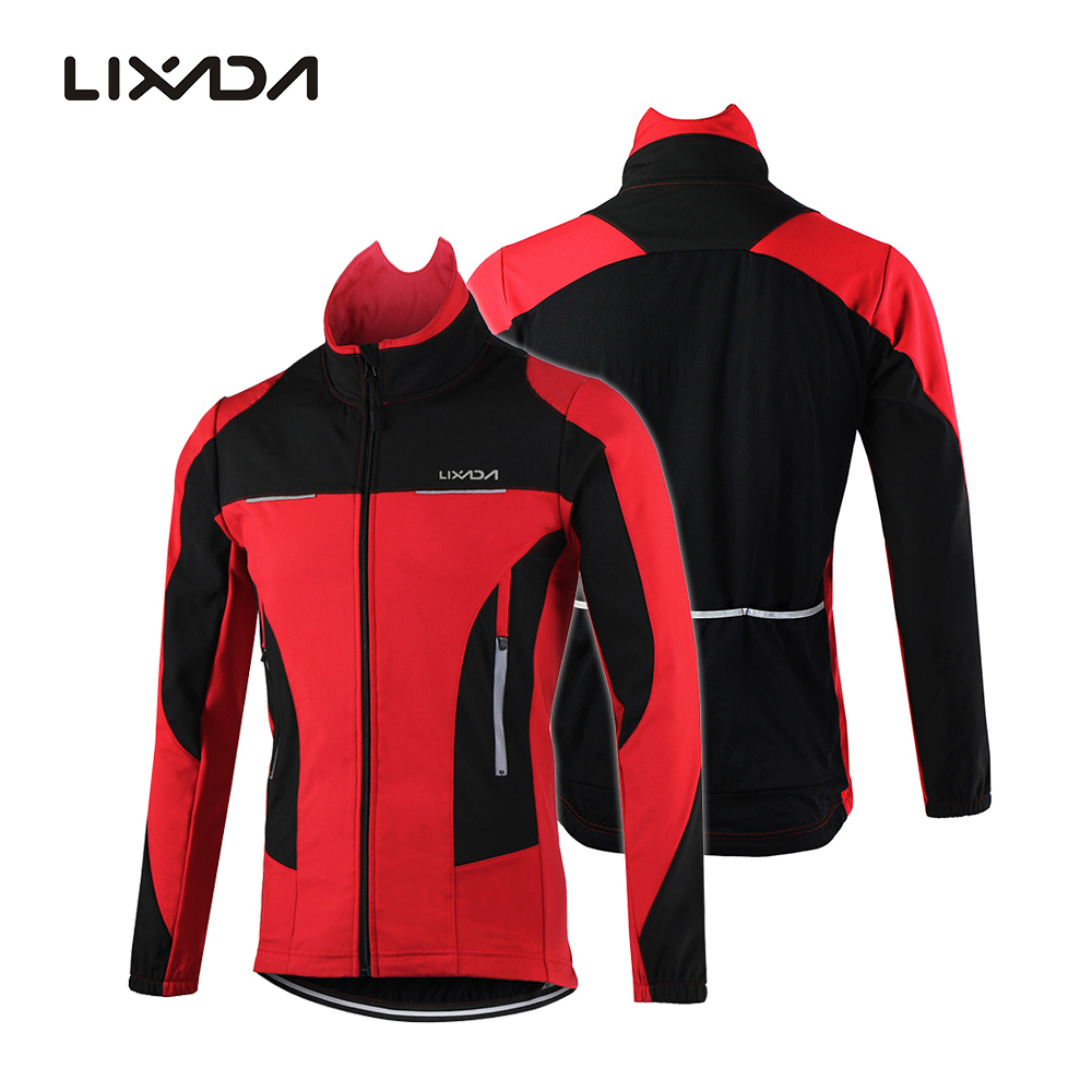 Lixada Men's Outdoor Waterproof Cycle Jacket Winter Thermal Comfortable Long Sleeve Jerseys Sleeveless Vest Wind Coat Sportware