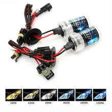 car hid xenon headlight bulbs 35W 55W H1 H3 H8 H11 H7 9005 9006 881 H13 12V headlight lamps 3000K 6000K white yellow fog lights все цены