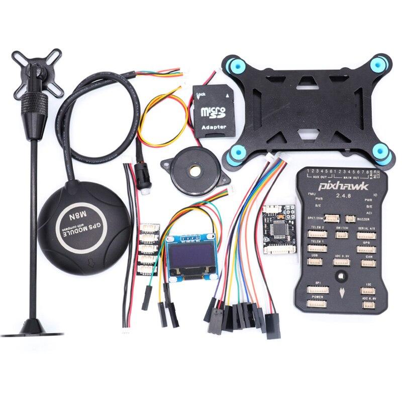 Pixhawk PX4 PIX 2.4.8 32 Bit Flight Controller w/ 4G SD Safety Switch Buzzer M8NGPS+PPM+I2C+gps stand+shock Absorber+card readerPixhawk PX4 PIX 2.4.8 32 Bit Flight Controller w/ 4G SD Safety Switch Buzzer M8NGPS+PPM+I2C+gps stand+shock Absorber+card reader