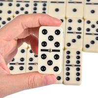 28 PCS Melamine Domino Blocks With Craft Leather Box Educational Board Games Mahjong Entertainment Supplies